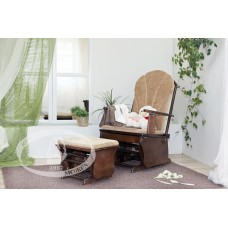 Кресло-качалка с подставкой для ног С 254 Красная звезда
