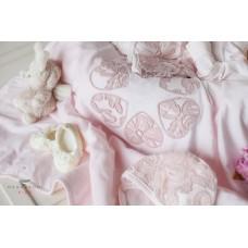 Набор на выписку для девочки ФЛЁР с платьем, в подарочной упаковке Makkaroni Kids
