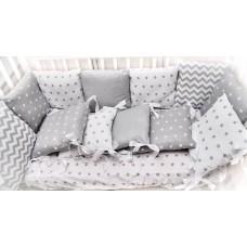 Детская кроватка с ящиком + матрац Зима/лето + комплект 6 предметов