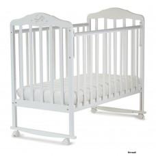 Детская кроватка Малика Зебра 21011 (колеса/качалка)