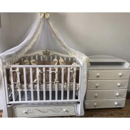 Комната для новорождённого «Серебряный листопад», 3 предмета