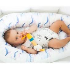 Гнездышко для младенца ByTWINZ Акварельные Киты