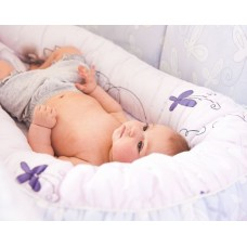 Гнездышко для младенца ByTWINZ Милые зайцы
