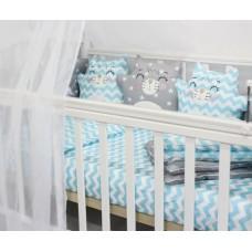 Комплект в кроватку с игрушками ByTWINZ Котики