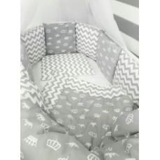 Комплект в круглую кроватку ByTWINZ Короны