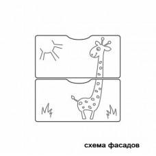 Кроватка-трансформер маятник СКВ-5 «Жираф»