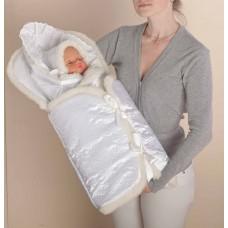Меховой комплект на выписку для новорожденного «Снежинка» Арт. 47