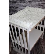 Матрасик на пеленальный столик круглой кроватки