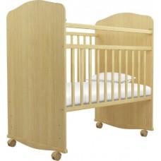 Кроватка качалка на колёсиках Агат Золушка 8