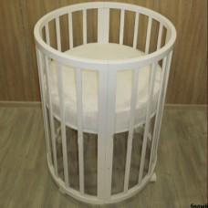 Круглая кроватка трансформер 8в1 Mika Polli 65