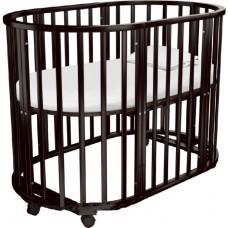 Круглая (овальная) кроватка трансформер Агат Родея Стандарт Плюс 8 в1(Папа Карло 1/5  8 в1)