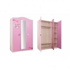 Детский трехстворчатый шкаф Cilek SL Princess