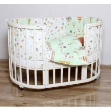 Комплект для овальной кроватки Лимпопо 6 предметов