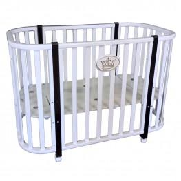 Круглая кроватка трансформер Кедр Estelle 1
