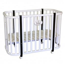 Круглая кроватка трансформер Кедр Estelle 3