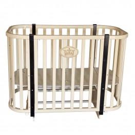 Круглая кроватка трансформер Кедр Estelle 4